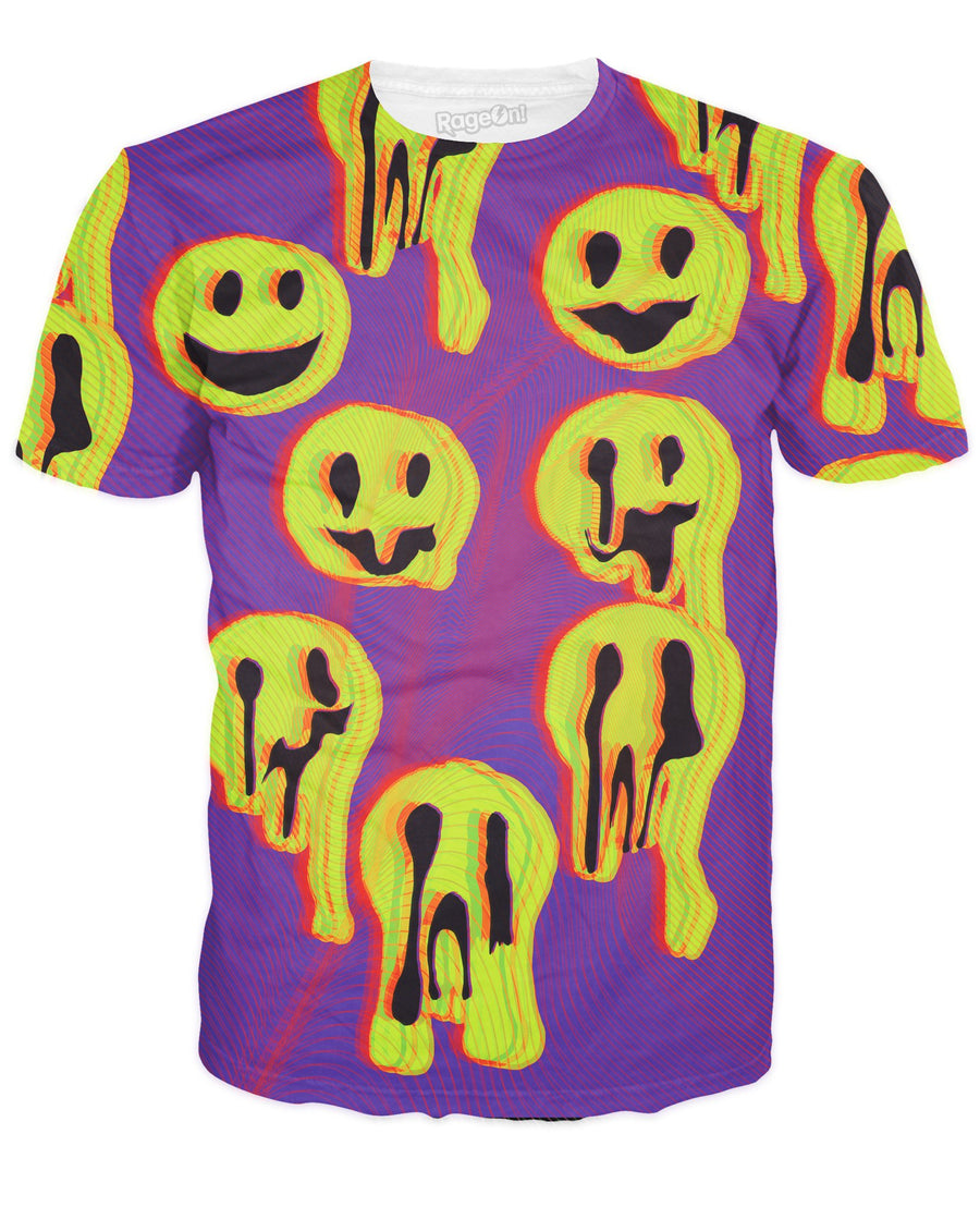 Acid Wax Smile T-Shirt-T-Shirts-LetsRage-X-Small-Ultra Premium-Multi-Très Fancy
