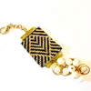 """The Golden Decade"" Art Deco(r) Handwoven Charm-Women - Jewelry - Pins-stardust++chaos-As is-Très Fancy"