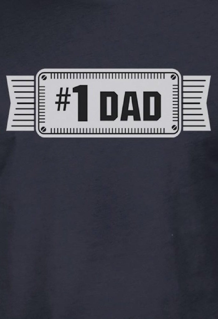 #1 Dad Mens Navy Vintage Style Graphic T-Shirt Unique Gifts For Dad-Men - Apparel - Shirts - T-Shirts-TSF Design-SMALL-Très Fancy
