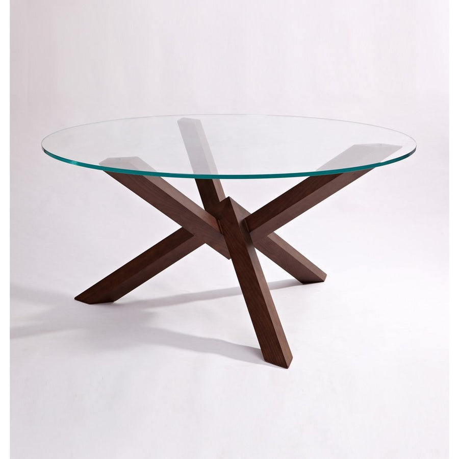 Grace Modern Dining Table - Glass & Wood | GFURN-GFURN Design Furniture-Très Fancy