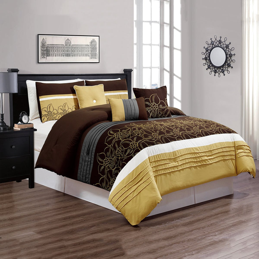 D&B Ryden Collection - Luxury 7 Piece Comforter Set