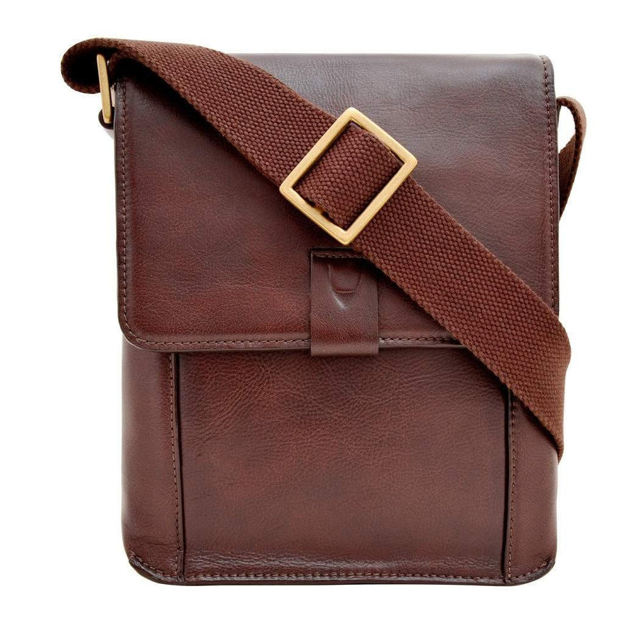 Aiden Small Leather Messenger Cross Body Bag-Men - Bags - Crossbody-Hidesign-Très Fancy