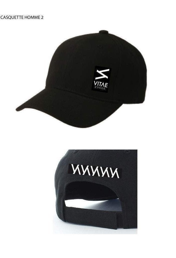"""All Black"" Baseball cap for motorcyclists-Men - Accessories - Hats-Vitae-Très Fancy"