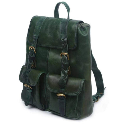 Amy Backpack, Blue Navy-Women - Bags - Backpacks-More Lane Inc-Vintage Green-Très Fancy
