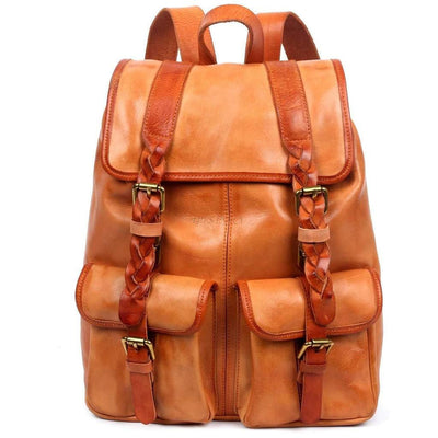 Amy Backpack, Green-Women - Bags - Backpacks-More Lane Inc-Camel-Très Fancy