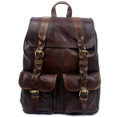 Amy Backpack, Green-Women - Bags - Backpacks-More Lane Inc-Coffee-Très Fancy
