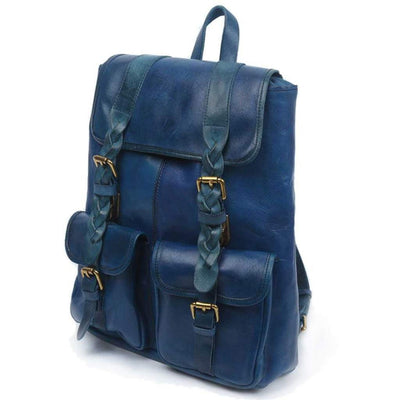 Amy Backpack, Green-Women - Bags - Backpacks-More Lane Inc-Navy-Très Fancy