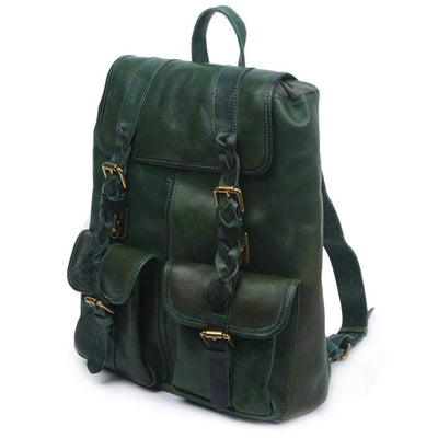 Amy Backpack, Green-Women - Bags - Backpacks-More Lane Inc-Vintage Green-Très Fancy