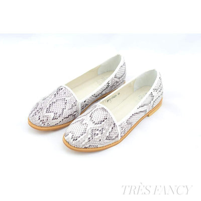 Anaken white snake print loafers-Women - Shoes - Flats-Seira Elves-UK 3-Très Fancy