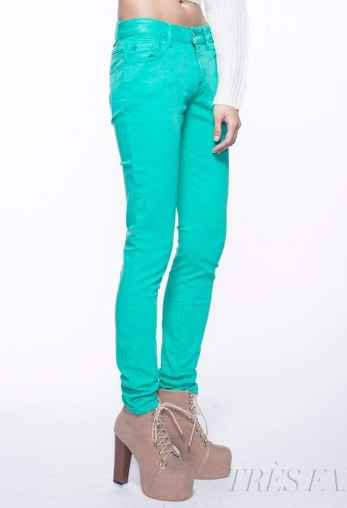 Apple Green-Women - Apparel - Pants - Skinny-Indigo Paper-10/27-TRESFANCY