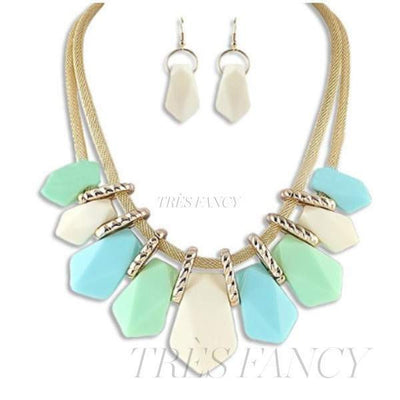 AQUA Jewelry Set-Women - Jewelry - Necklaces-milajki-Très Fancy