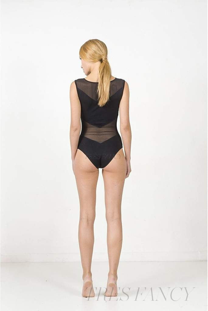 Arrow bodysuit, black-Women - Apparel - Bodysuits & Shaperwear - Bodysuits-EON Paris-S-TRESFANCY