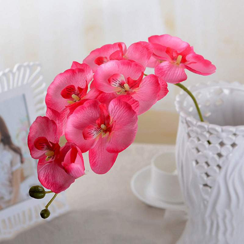 Artificial Butterfly Orchid Silk Flower Bouquet for Home Decoration ...