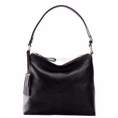 Ascot Natalie Top Zip Hobo-Women - Bags - Hobos-TUSK-BLACK-Très Fancy
