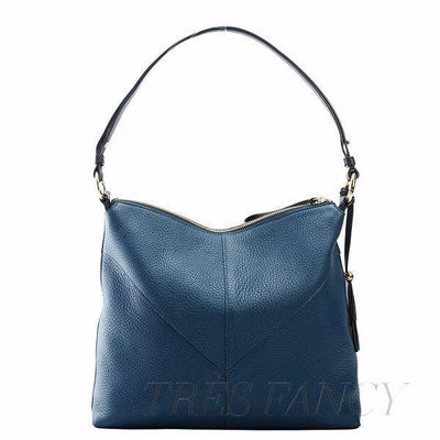 Ascot Natalie Top Zip Hobo-Women - Bags - Hobos-TUSK-DENIM-Très Fancy