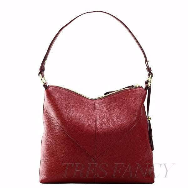 Ascot Natalie Top Zip Hobo-Women - Bags - Hobos-TUSK-RED-TRESFANCY