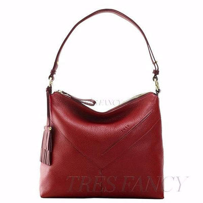 Ascot Natalie Top Zip Hobo-Women - Bags - Hobos-TUSK-RED-Très Fancy