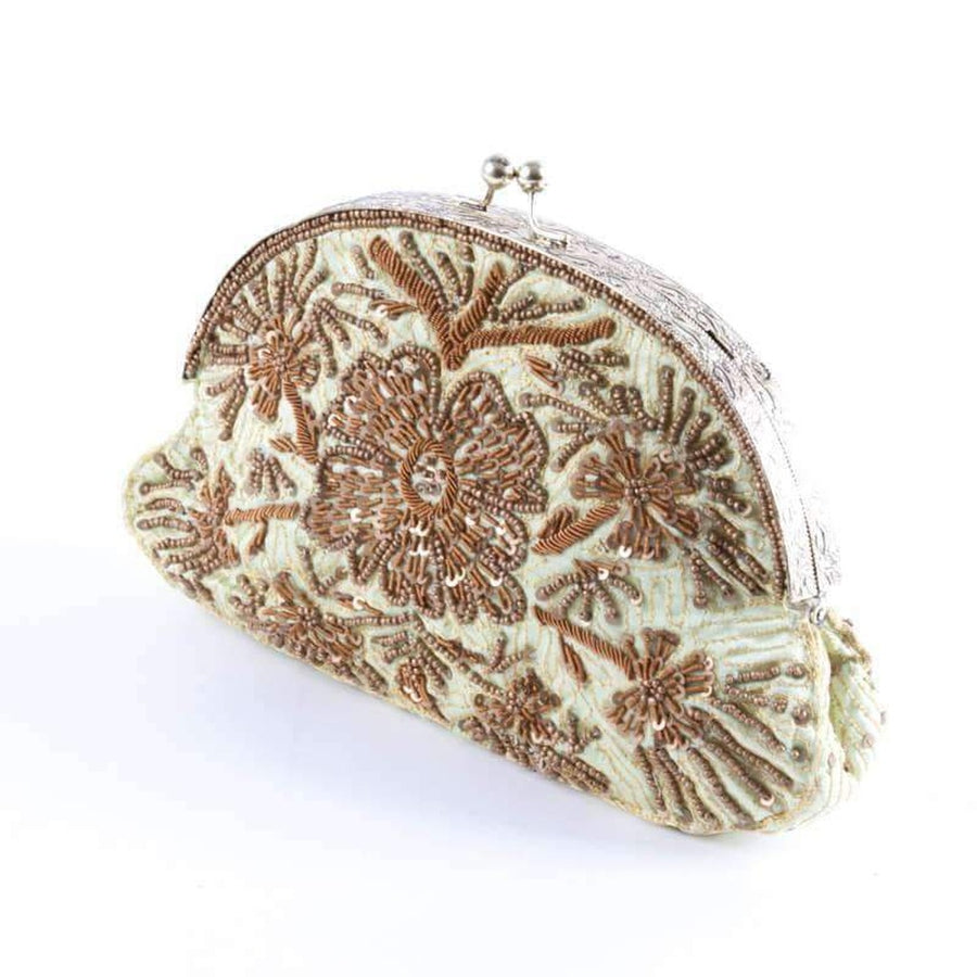 Pistache and Bronce Evening Bag