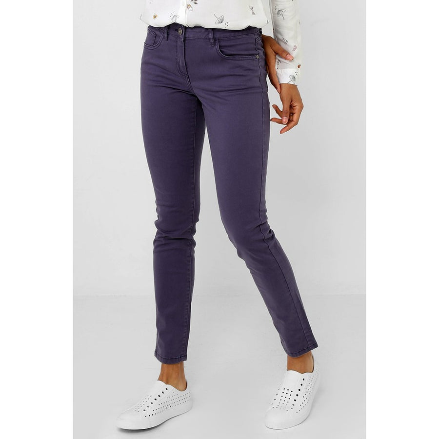 Washed Blue Mom Fit Trousers