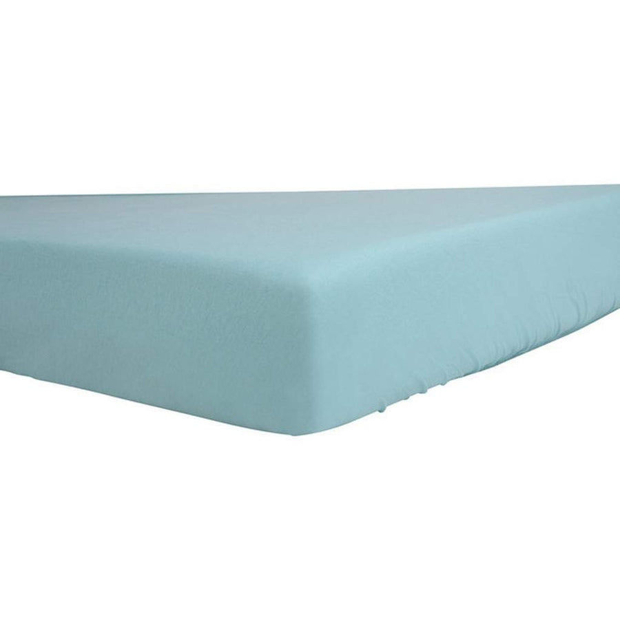 Baby Blue Egyptian Cotton Fitted Crib Sheet-Children - Boys - Accessories-Mezoome Designs-Très Fancy