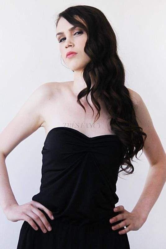 Ballerina Strapless Black Stretchy Top 2007