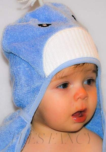 Bamboo rayon Whale Hooded Turkish Towel: Baby-Children - Boys - Bed & Bath - Towels-Little Ashkim-Très Fancy