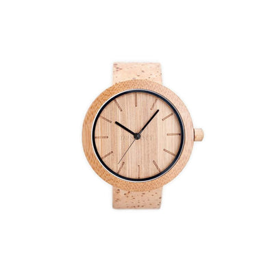 Bamboo Watch: Natural + Cork-Women - Accessories - Watches-PANDA-Très Fancy