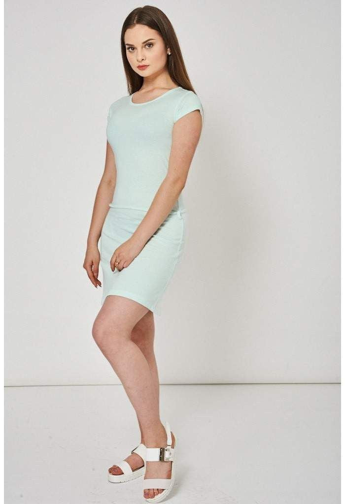 Basic Green Striped Dress Ex-Branded