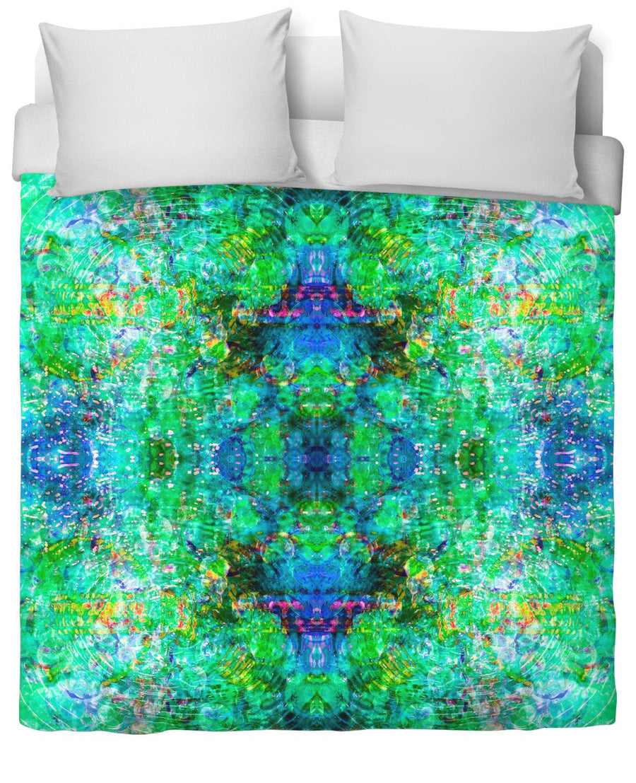 Caterpillar Portal Hexa 2 Duvet Cover-Duvet Covers-FaceGlue-Twin-Très Fancy