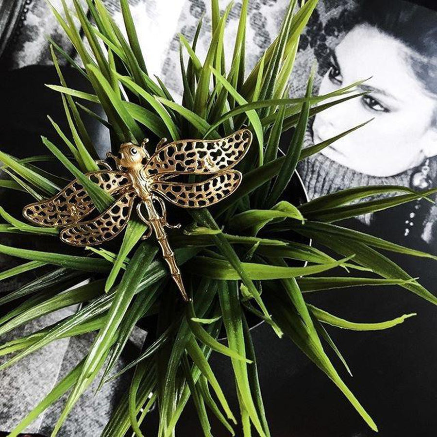 Brilliant Dragonfly Brooch-Women - Jewelry - Pins-Fashion Stories NYC-Très Fancy