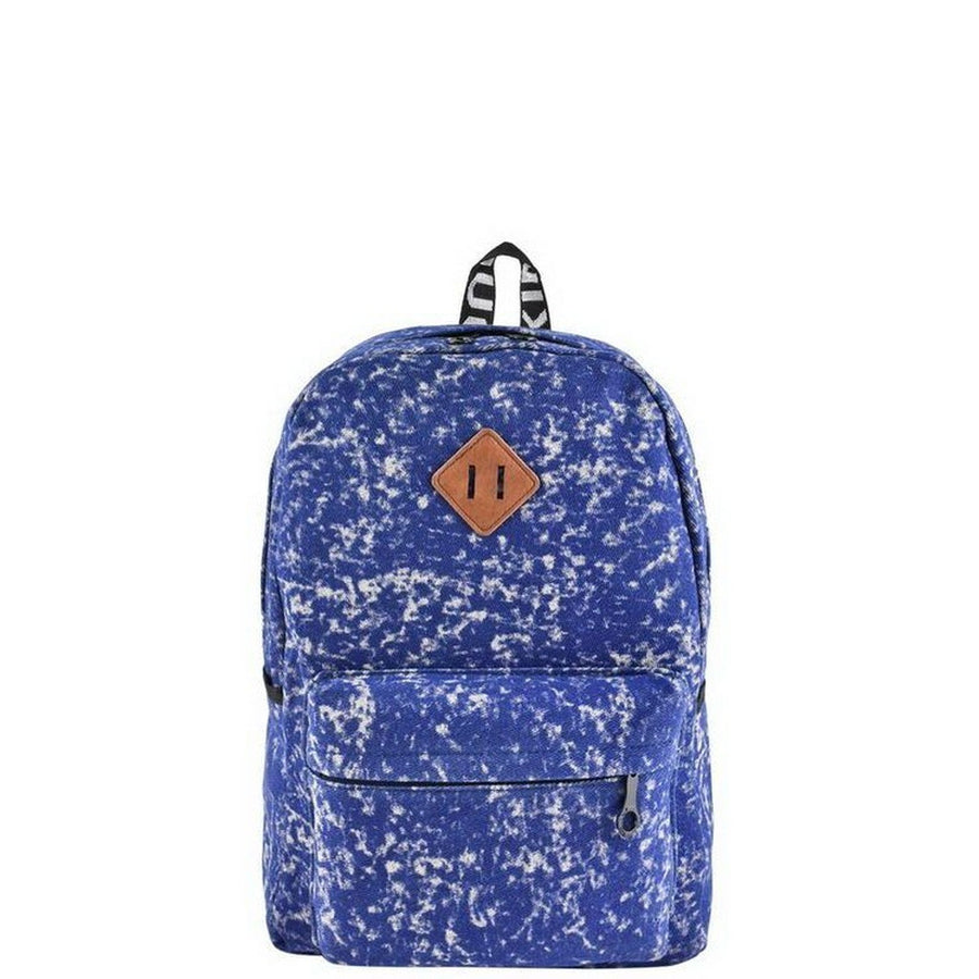 Blue Acid Wash Backpack-Women - Bags - Backpacks-Le Chic, LLC-Très Fancy