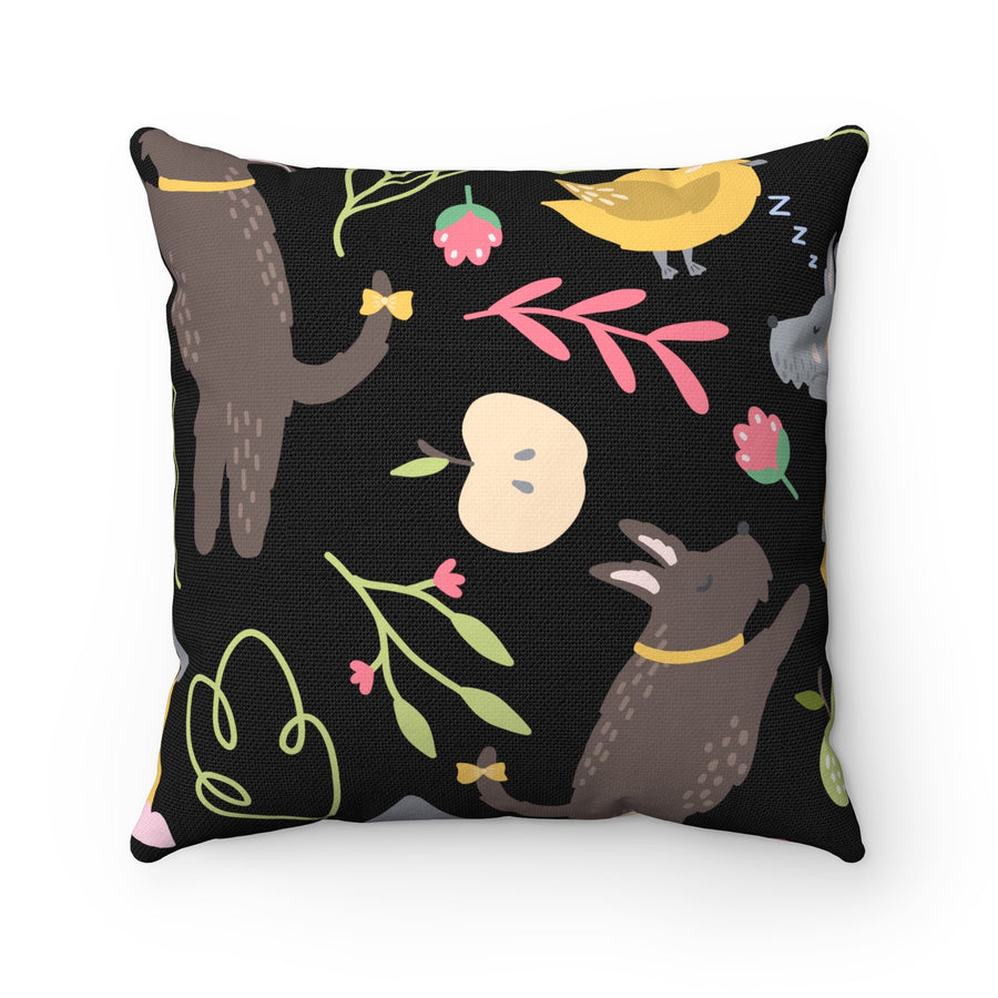 """Bear"" Cushion cover for children-Home Decor - Decorative Accents - Pillows & Throws - Decorative Pillows-Maison d'Elite-14x14-Multi-Spun Polyester-Très Elite"