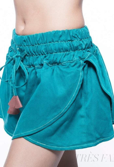 Bell Turquoise-Women - Apparel - Shorts - Casual-Indigo Paper-Très Fancy