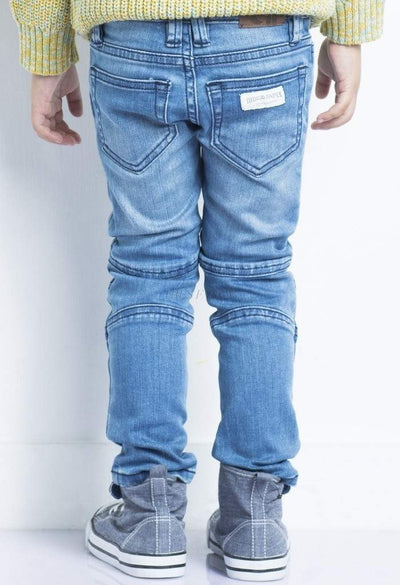 Biker Jeans Light Wash-Children - Boys - Apparel - Jeans-Indigo Paper-Très Fancy
