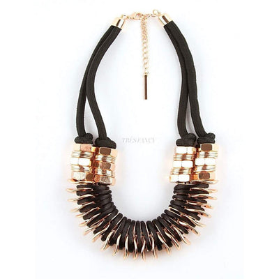 Binky Black Necklace-Women - Jewelry - Necklaces-Souksy London-Très Fancy