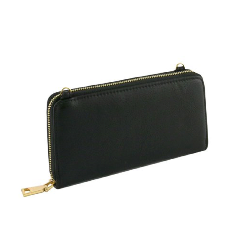 Black Convertible Wallet-Women - Accessories - Wallets & Small Goods-Le Chic, LLC-TRESFANCY