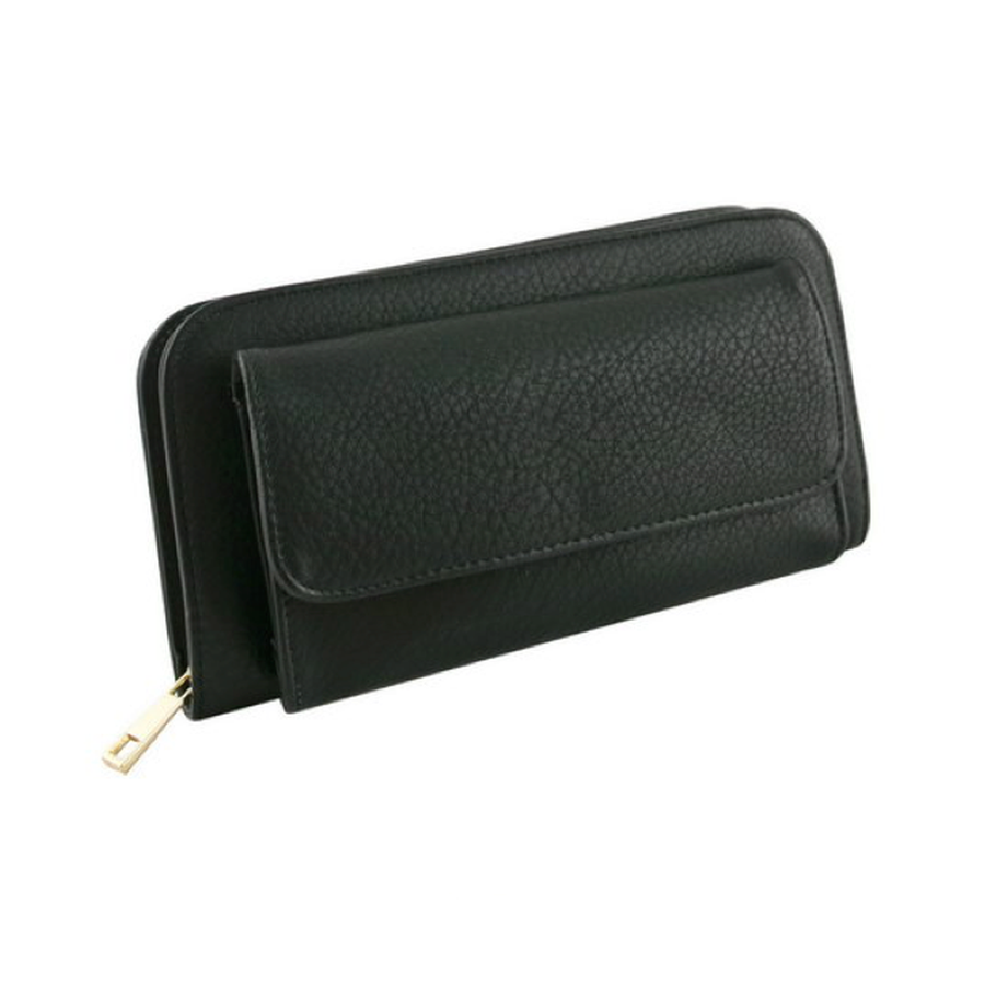 Black Front Pocket Wallet-Women - Accessories - Wallets & Small Goods-Le Chic, LLC-TRESFANCY