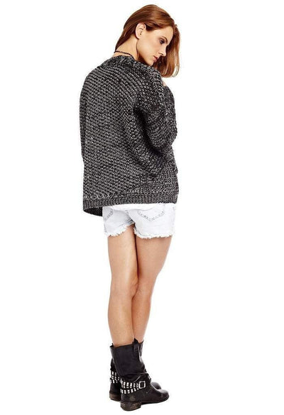 Black knitted cardigan-Women - Apparel - Sweaters - Cardigans-Q2 Store-M-Très Fancy