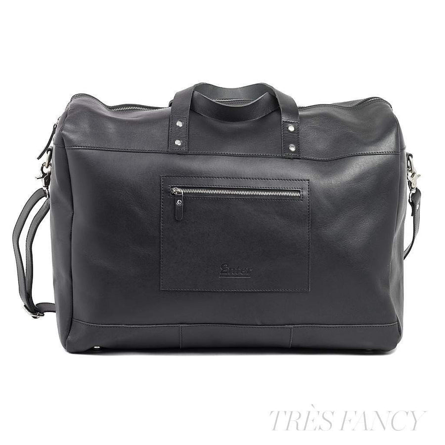 Black Leather Duffel Bag-Men - Bags - Duffels-Enter Accessories-Très Fancy