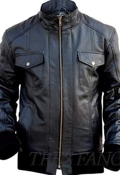 Black Leather Jacket-Men - Apparel - Outerwear - Jackets-Leather Skin-Très Fancy