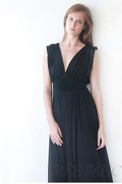Black sleeveless maxi dress 1003-Women - Apparel - Bridal-Blushfashion-Très Fancy