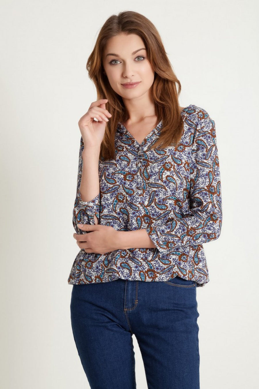 Blouse 77917 Greenpoint-Women`s Blouses & Tunics-Greenpoint-multicolor-36-TRESFANCY