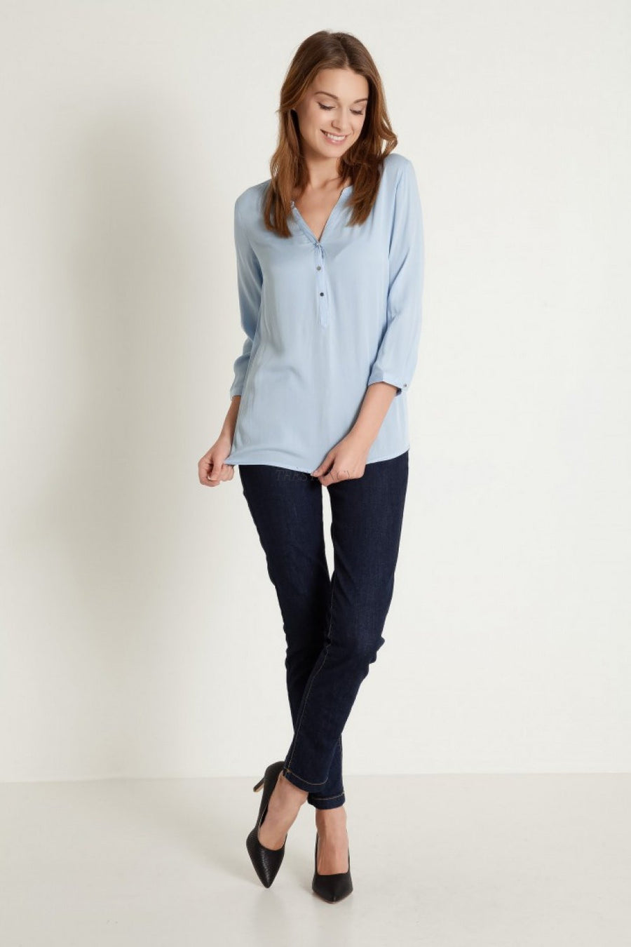 Blouse 77921 Greenpoint-Women`s Blouses & Tunics-Greenpoint-blue-36-TRESFANCY