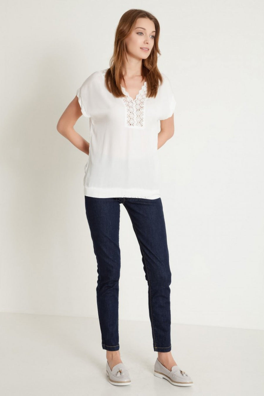 Blouse 77922 Greenpoint-Women`s Blouses & Tunics-Greenpoint-white-36-TRESFANCY