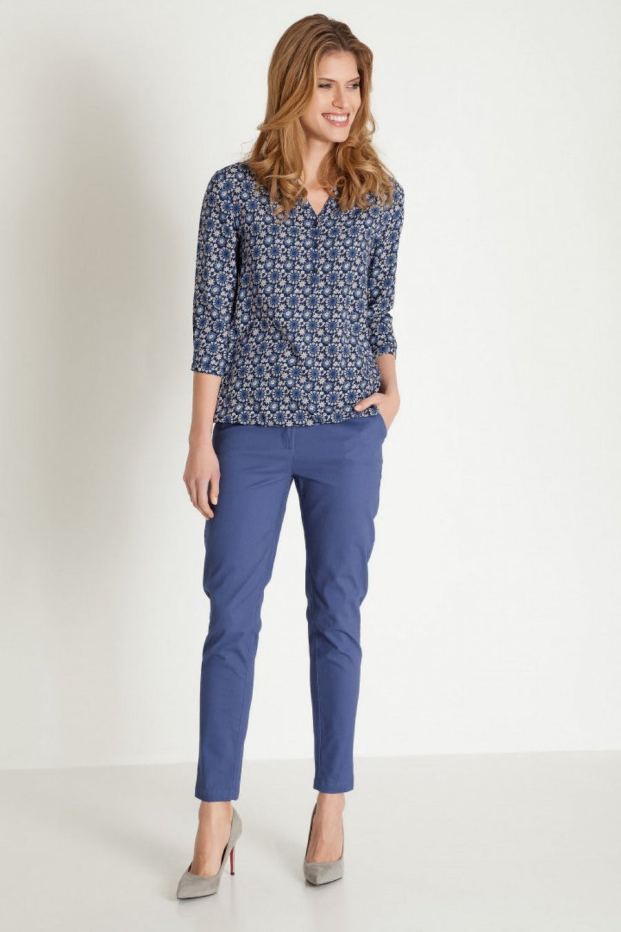 Blouse 77923 Greenpoint-Women`s Blouses & Tunics-Greenpoint-blue-36-TRESFANCY