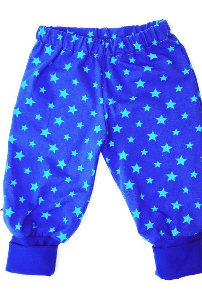Blue Baby Pants with Stars - Size Newborn-24 Months-Children - Boys - Apparel-Tiny Kiddie-Très Fancy