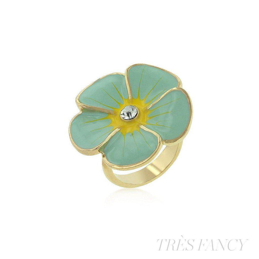 Blue Fleur-Women - Jewelry - Rings-Le Chic, LLC-8-Très Fancy
