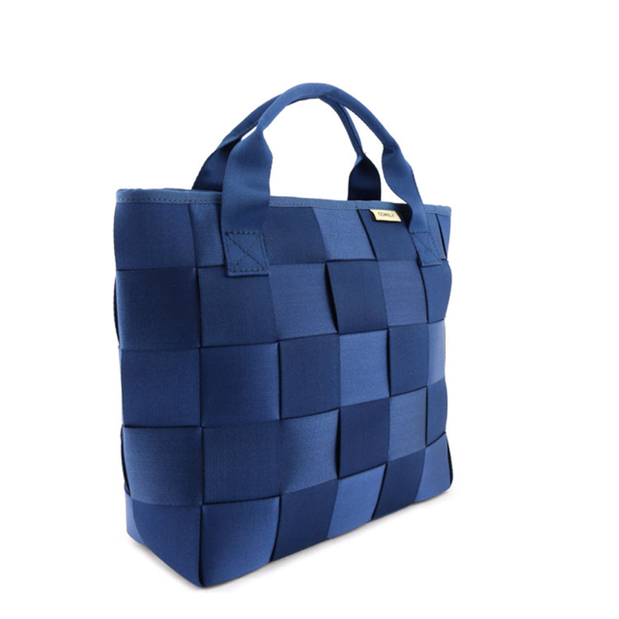 Blue Woven Belt Backpack-Women - Bags - Backpacks-Le Chic, LLC-Très Fancy