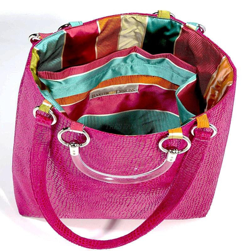 Boa Hot Pink Large Tote-Women - Bags - Totes-Baxter Designs-Très Fancy