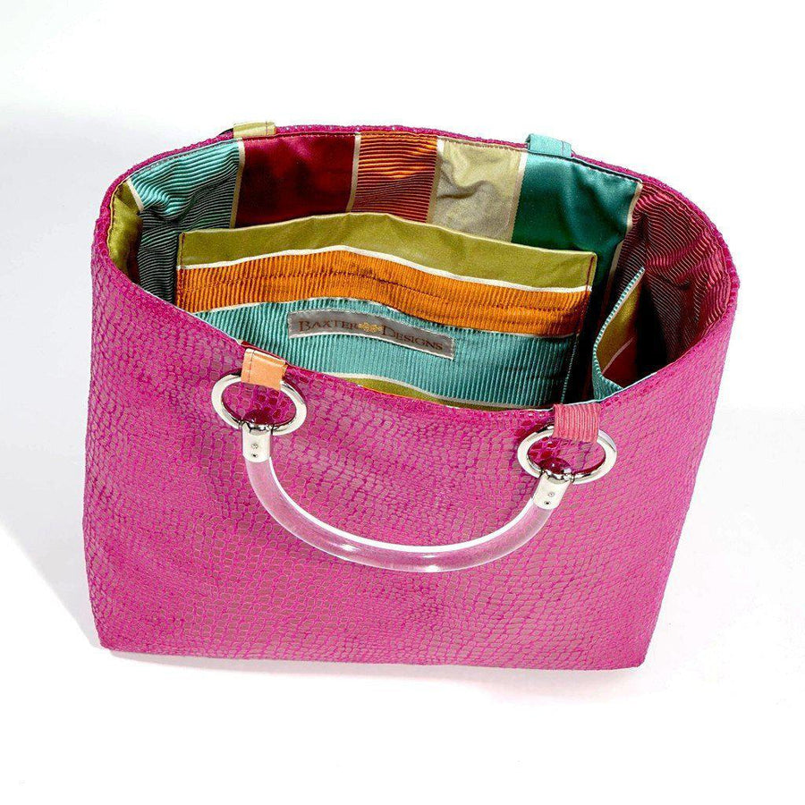 Boa Hot Pink Small Tote-Women - Bags - Totes-Baxter Designs-Très Fancy